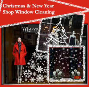 Christmas Shop Window Cleaning