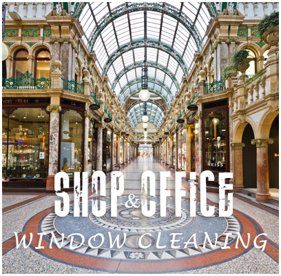 shop & office window cleaning Burnley