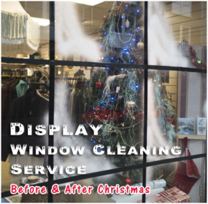 Shop display window cleaning service